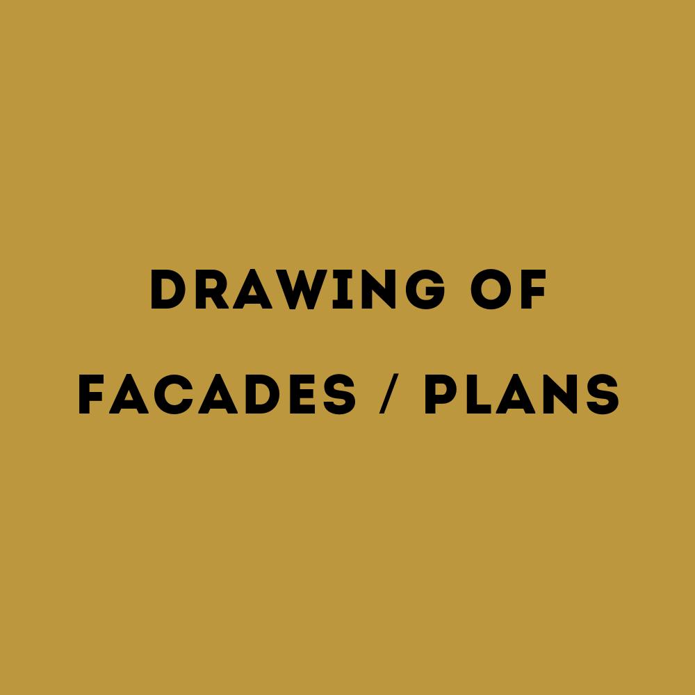 tekenwerk gevels en plattegronden